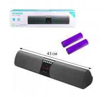 Колонка BLUETOOTH WS-1822 черный (2x10W, FM, AUX, USB, TF Card, MIC, miniUSB) черный WSTER