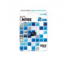 2GB microSD Class4 (без адаптера) (13612-MCROSD02) MIREX