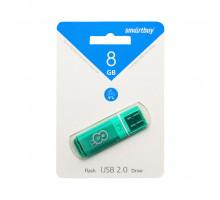 8GB USB GLOSSY (SB8GBGS-G) зеленый SMARTBUY