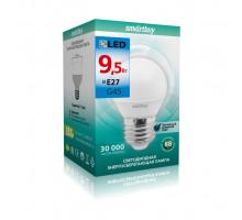 Светодиодная лампа G45-9,5W/6000/E27 холодный свет SMARTBUY