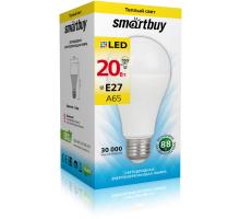 Светодиодная лампа A65-20W/3000/E27 теплый свет SMARTBUY
