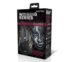 Мышь игровая проводная RUSH ZOMBIE SBM-721G-K черный SMARTBUY