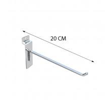 Крючок для торговой панели металлический (L 200mm, D 3.8mm) хром (10ШТ) (скидка 10 процентов)