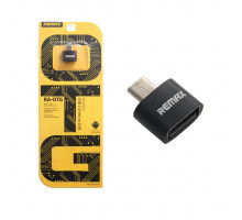 Адаптер OTG MicroUSB - USB черный REMAX (скидка 20 процентов)