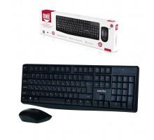 Клавиатура и мышь беспроводная ONE SBC-207295AG-K черный SMARTBUY