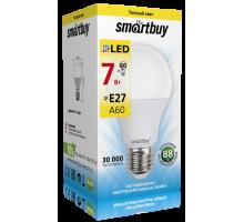 Светодиодная лампа A60-7W/3000/E27 теплый свет SMARTBUY