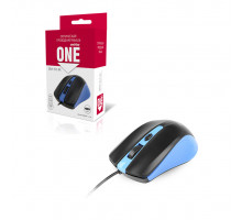 Мышь проводная ONE SBM-352-BK синий SMARTBUY