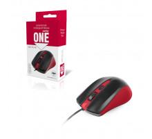 Мышь ONE SBM-352-RK красный SMARTBUY
