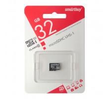 32GB microSDHC Class10 UHS-I (SB32GBSDCL10-00) без адаптера SMARTBUY