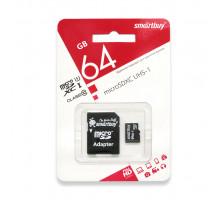 64GB microSDXC Class10 UHS-1 (SB64GBSDCL10-01) SMARTBUY