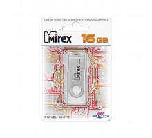 16GB USB2.0 SWIVEL (13600-FMUSWT16) белый MIREX