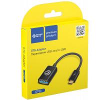 Адаптер OTG OTG1 MicroUSB — USB черный DREAM