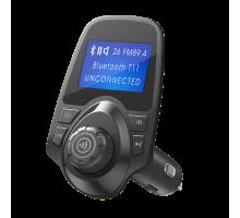 FM-трансмиттер BLUETOOTH T11 (SDHC, 2USB, AUX, HF, LED) v2 черный DREAM (скидка 10 процентов)