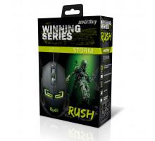Мышь игровая проводная RUSH STORM SBM-916G-K черный SMARTBUY