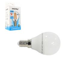 Светодиодная лампа P45-5W/4000/E14 холодный свет SMARTBUY