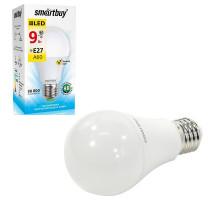 Светодиодная лампа A60-09W/3000/E27 теплый свет SMARTBUY