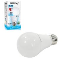 Светодиодная лампа A60-09W/4000/E27 холодный свет SMARTBUY