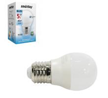 Светодиодная лампа G45-05W 4000 E27 холодный свет SMARTBUY