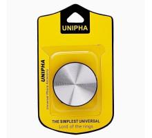 Попсокет универсальный (D 40mm) белый - серебро UNIPHA